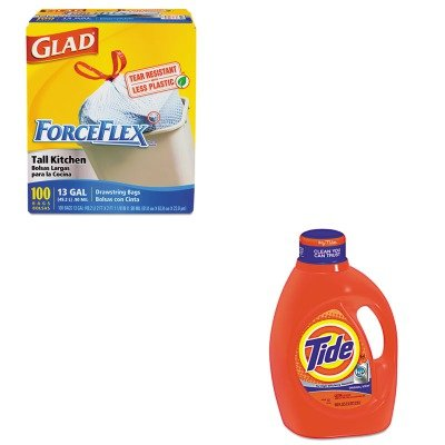 KITCOX70427PAG08886 - Value Kit - Procter amp; Gamble Professional HE Laundry Detergent (PAG08886) and Glad ForceFlex Tall-Kitchen Drawstring Bags (COX70427)