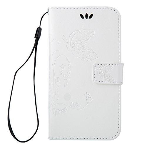 Fashion & personality Para Samsung Galaxy A7 (2016) / A710 Impresión de la textura del caballo loco horizontal Caja del cuero del tirón con el sostenedor y ranuras para tarjeta y carpeta y acollador,  White