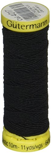 Gutermann Elastic Thread 11 Yards-Black