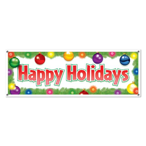 Happy Holidays Sign (Happy Holidays Sign Banner Party Accessory (1 count) (1/Pkg))
