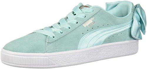 PUMA Women's Suede Bow Wn Sneaker, Island Paradise, 10 M US