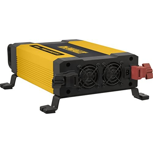 3.1A USB Ports Battery Clamps DEWALT DXAEPI1000 Power Inverter 1000W Car Converter with LCD Display Dual 120V AC Outlets