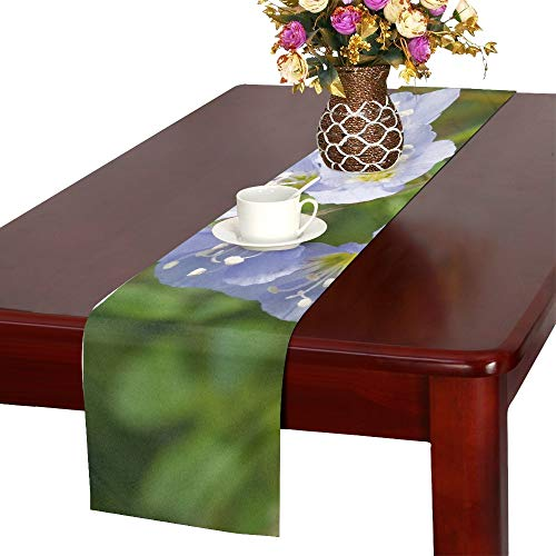 WBSNDB Jacobs Ladder Flower Greek Valerian Polemonium Table Runner, Kitchen Dining Table Runner 16 X 72 Inch for Dinner Parties, Events, Decor