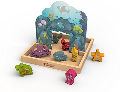 (BeginAgain - Colors We Sea Story Box and Playset, Help Build Creativity, Imagination and Storytelling Skills, Educational Wooden Animal Recognition Playset (For Kids 2 and Up))