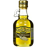 8.5 Oz Grand'aroma Truffle Extra Virgin Olive Oil, rich flavor and aroma of fresh truffles is infused into Mantova Extra Virgin Olive Oil for this versatile oil. It will transform your mashed or fried potatoes, pasta, seafood dishes, and a drizzle just before serving creates the ultimate risotto.