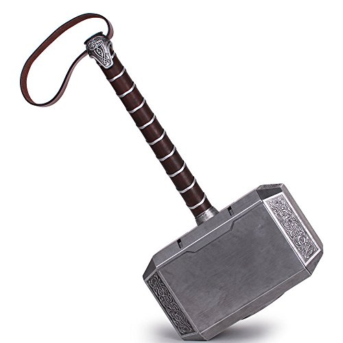 SOGAR Halloween 1:1 the Avengers Thor Hammer Prop Upgraded Version Replica