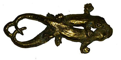 Amazing Gift Thai Amulets Rare 2 Tails Brass Gecko Lizard L.P Joi Wat Srioutumporn Nakronsawan Thai Buddha Gambler Amulet For Lucky & Wealth