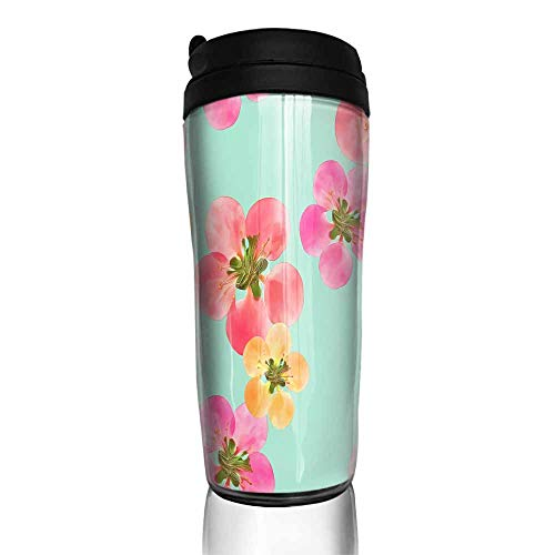 coffee cups for mom Quince apple quince Seamless pattern texture of flowers Floral background photo collage6 12 oz,yeti handles for coffee cup ()