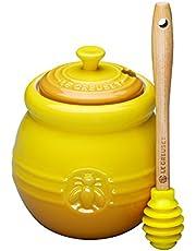 Le Creuset Stoneware 15-Ounce Honey Pot (Dijon)