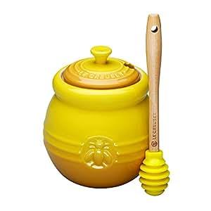 Le Creuset Stoneware 15-Ounce Honey Pot, Dijon