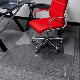 36 x 46 – Premium Glass Chair Mats No Crack, Dent or Scratch for Carpet or Hard Floor Exclusive Beveled Edges