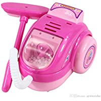 Kids Plastic Electrical Vacuum Cleaner Simulation Mini Bubble Dust Collector Remover Toy