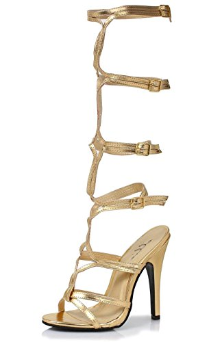 Ellie Shoes Women's 510 Sexy Gladiator Sandal, Gold, 9 M US
