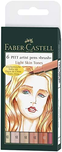 Faber Castell FC167577 Inde encre PITT artist Calligraphie Stylos-Walnut Brown