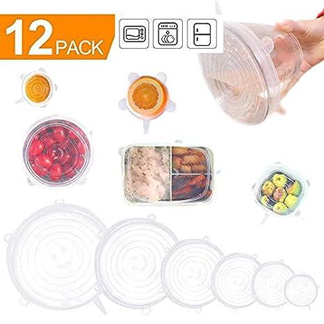 Amazon.com: Tapas elásticas de silicona, para lavavajillas ...
