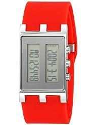 EOS New York Unisex 120SRED Binary Digital Watch
