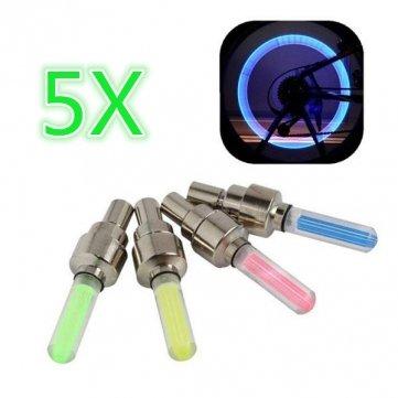 lumière roue Pakhuis 5x de valve de vélo Lampe feux LED de de Valve XFnxanq7
