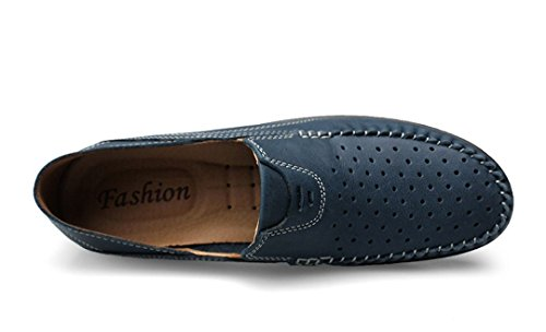 ... Tda Mens Fashion Pustende Perforert Skinn Loafers Kjøring Kjole  Forretnings Båt Sko Blå ...