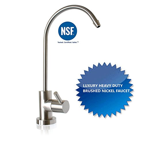 Clear 3 Stage Under Sink Water Filter Extra Filters Luxury Brushed Nickel Faucet by Fountainhead Water System (Image #1)
