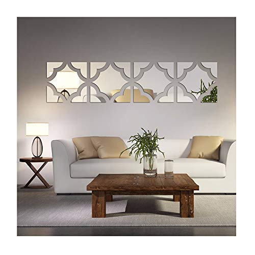 Cheap  Alrens(TM)20pcs/Set Geometric Art 3D Acrylic Mirror Wall Sticker Home Decor DIY Kitchen..