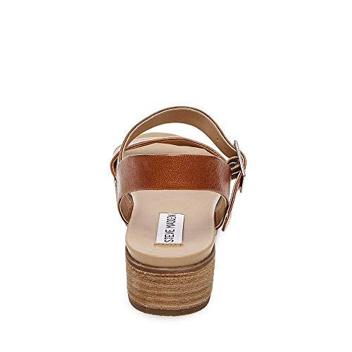 Sandal Women's Madden Cognac Steve 8 Leather Us Aida 5 axvOwZ