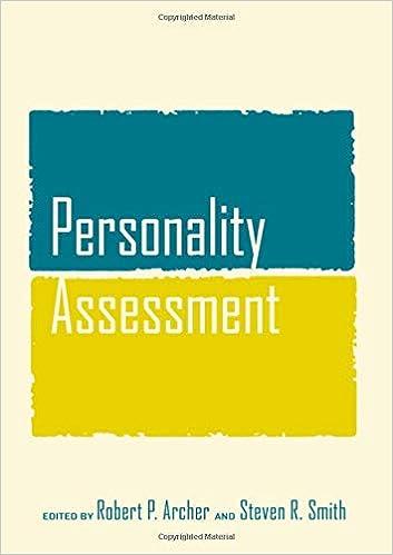amazon com personality assessment 9780805861181 robert p archer