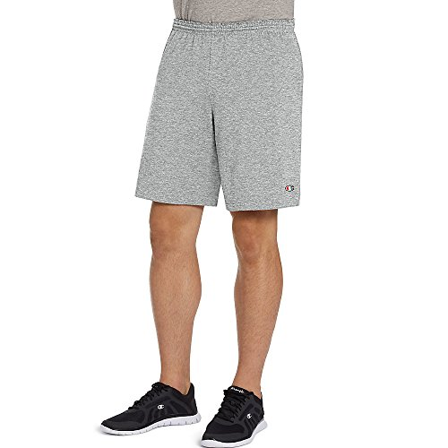 Jersey Mens Champion Short (Champion Authentic 9 inch Men's Shorts with Pockets, Oxford Gray, XX-Large)