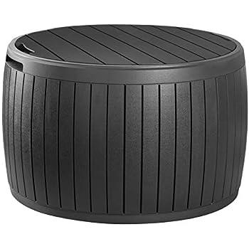 Amazon Com Keter Circa 37 Gallon Round Deck Box Patio