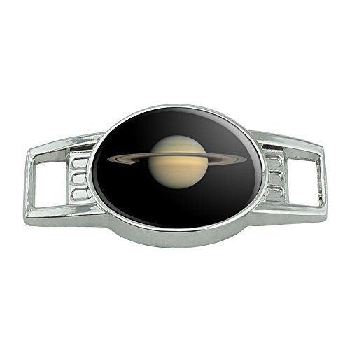 Talking Solar System - Planet Saturn with Rings Solar System Shoe Shoelace Shoe Lace Tag Runner Gym Charm Decoration
