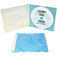mediaxpo 200 SLIM BLUE Color CD Jewel Cases