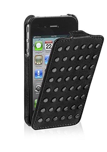 Decoded Schlagfall mit Nieten für Apple iPhone 4S schwarz