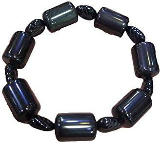 自然黒曜石のブレスレットカラフルなオークルバングルメンズジュエリー