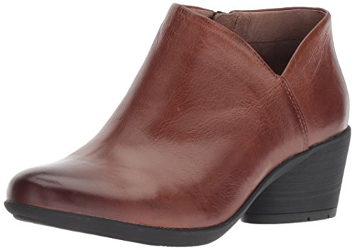 Dansko Women's Raina Ankle Boot Chestnut Burnished Calf