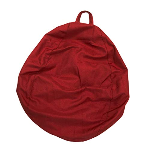 Flameer Super Large Bean Bag Chair Cover, Adult Teen Children's Lasy Sofa, Stuffed Animal Toy Clothes Storage Bags - Wine -