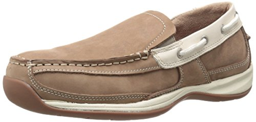 Rockport Work Women's Sailing Club RK673 Work Shoe, Tan/Cream, 9 W US by Rockport