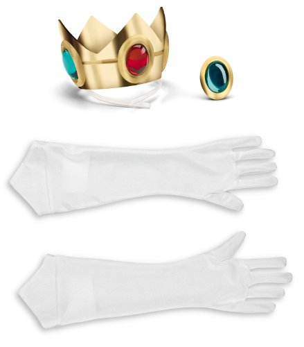 Super Mario Bros Princess Gloves Crown
