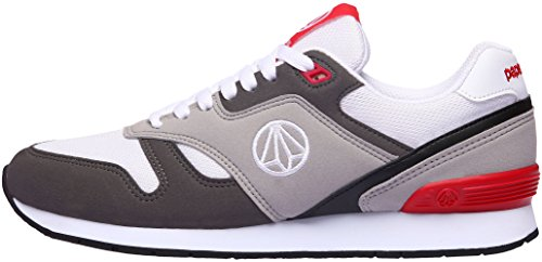 Paperplanes - 1328 Unisex Casual Lace Up All Day Walking-Turnschuhe, Grau - Gray Red Black - Größe: 43.5