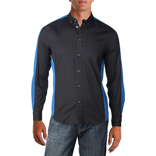 Marc by Marc Jacobs Men's Oxford Combo Shirt Black Multi - Marc Man Jacobs