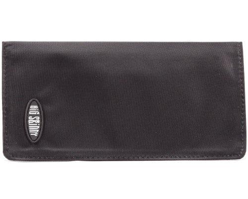 Nylon Checkbook Cover - Big Skinny Swiss Slim Checkbook Cover, Black