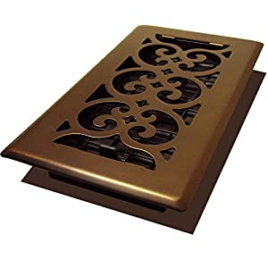 Decor Grates SPH408-RB Scroll Plated Register, 4-Inch by 8-Inch, Rubbed Bronze