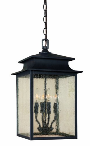 World Imports 9108-42 Sutton Collection 4-Light Hanging Outdoor Lantern, Rust