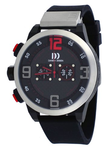 Danish Design #IQ24Q1021 Men's Resin Band Black Dial Chronograph Watch