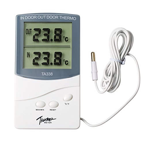 Price comparison product image White New Gauge LCD Digital Temperature Meter Indoor Outdoor