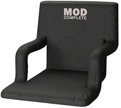 Extra Wide Seat - EXTRA WIDE Stadium Chair Seat for Bleachers or Benches - Enjoy Padded Cushion Backs and Armrest Support - 6 Reclining Custom Fit Sport Positions - Portable with Easy to Carry Backpack Straps