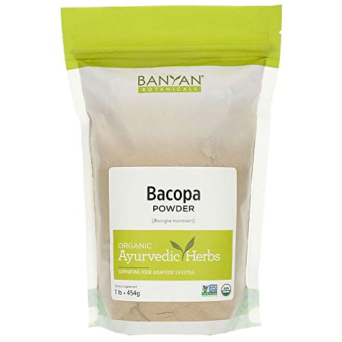 Banyan Botanicals Bacopa Powder, 1 Pound - USDA Organic - Bacopa monniera - Ayurvedic Herb for Memory & -