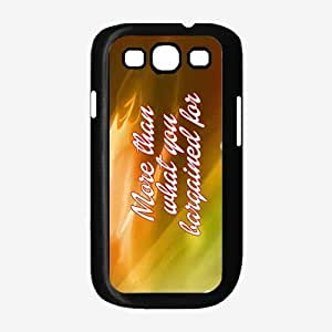More Than What You Bargained For TPU RUBBER SILICONE Phone Case Back Cover Samsung Galaxy S3 I9300