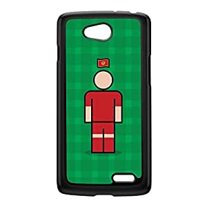 Montenegro Black Hard Plastic Case for LG L70 by Blunt Football International + FREE Crystal Clear Screen Protector