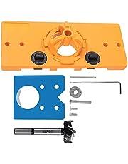 Borruppsättning 35 mm hålsåg med dolt gångjärn borrmätare locator hålöppnare mall & bit-positioneringsverktyg hårdmetall-träbearbetning gångjärn hålskärare med djupstopp, borr