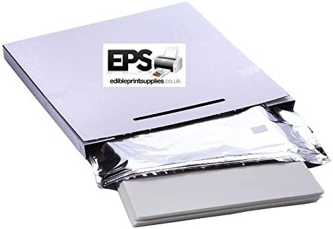 EPS Easy Peel Edible Icing Sheets Pack (25 sheets) for Printing / Photo Cake by Edible Print Supplies