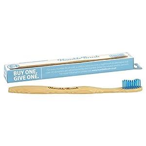 Humble Brush Single Medium Bristle Blue Adults Tooth Brush by Humble Brush